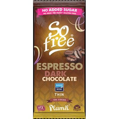 So Free No Added Sugar Espresso Dark Chocolate Bar 80g