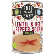 Free and Easy - Lentil & Red Pepper Soup (400g)